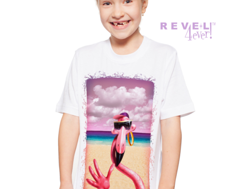 Revel4Ever! Big Girls' Flamingo Single Splash Performance Wicking T-shirt