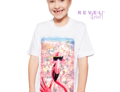 Revel4Ever! Big Girls' Flamingo Hello Splash Performance Wicking T-shirt